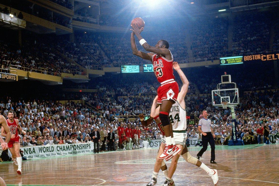 a photo of basketball player michael jordan