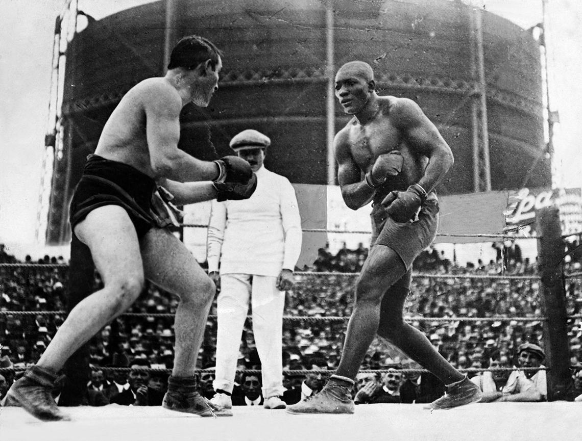 Jack Johnson, boxeador de peso pesado