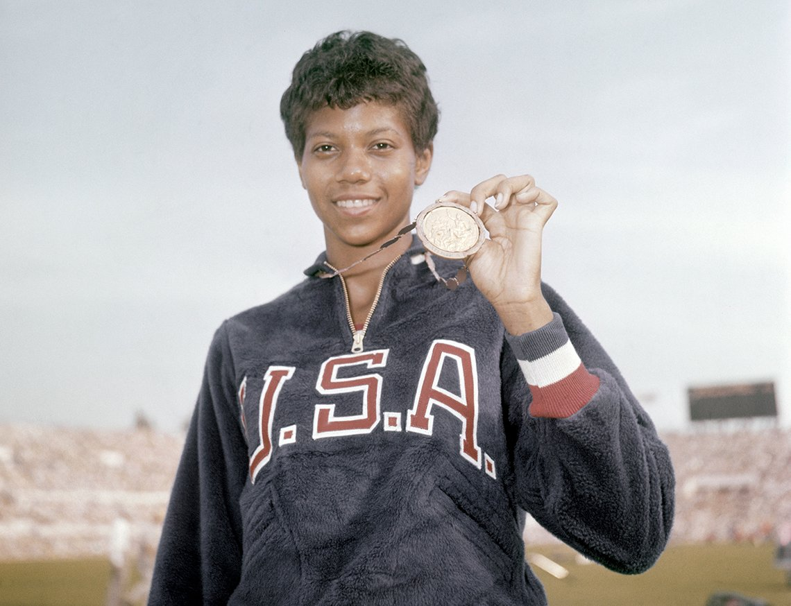 a photo of olympic gold medalist wilma rudolph