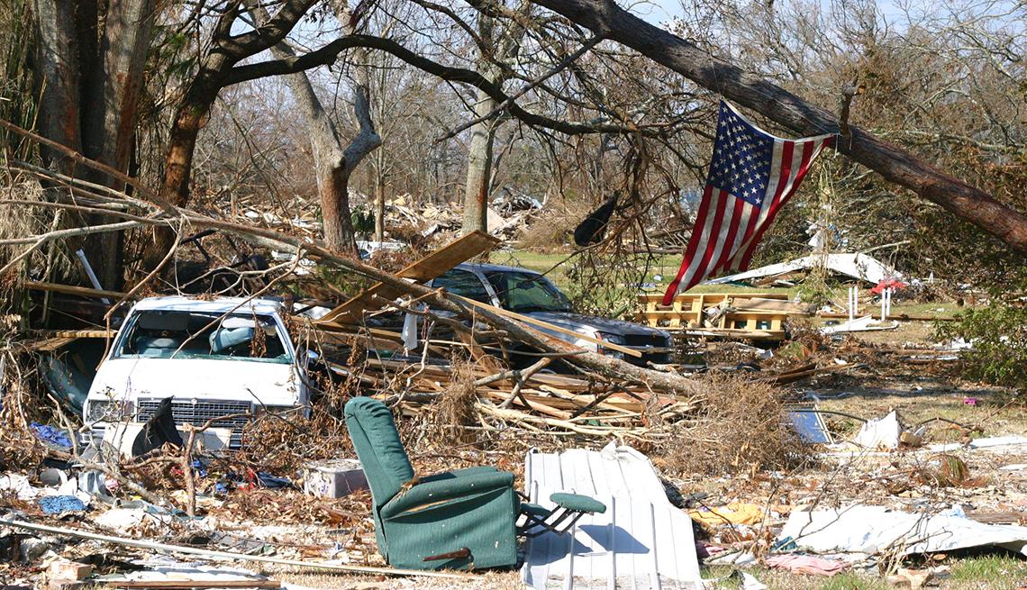 Ruinas del huracán Katrina