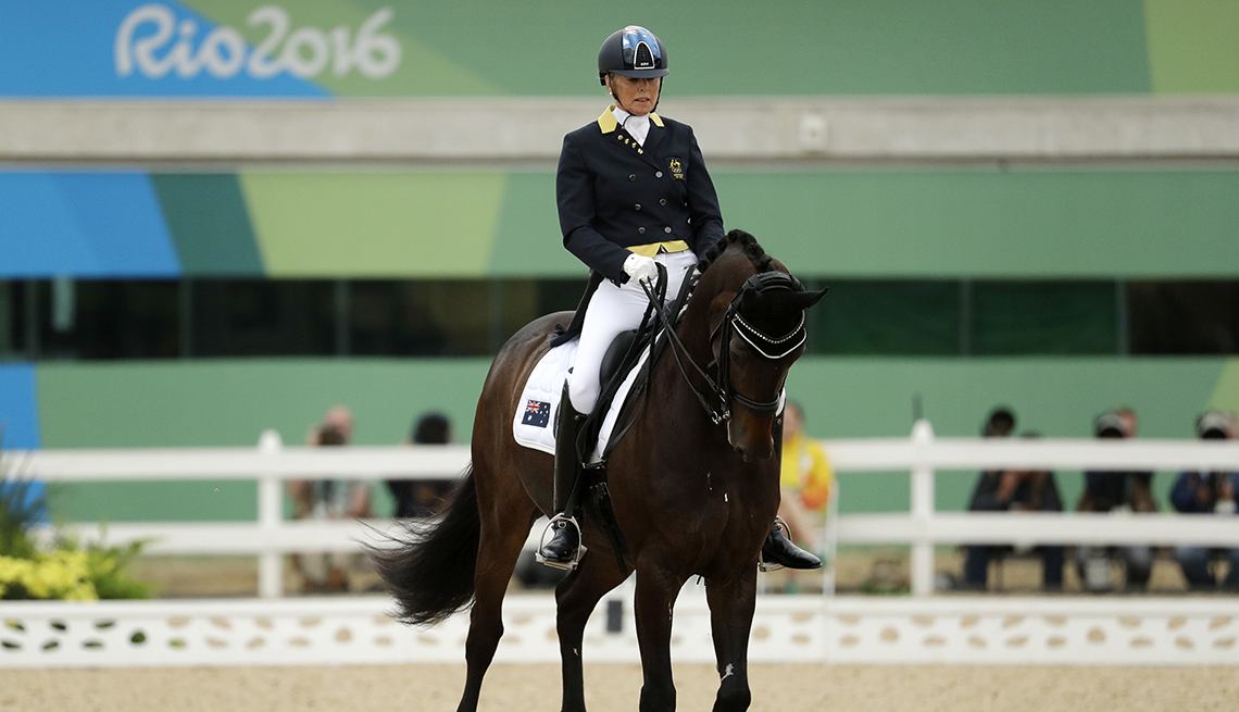 item 1 of Gallery image - mary hanna australian olympic equestrian atop a horse