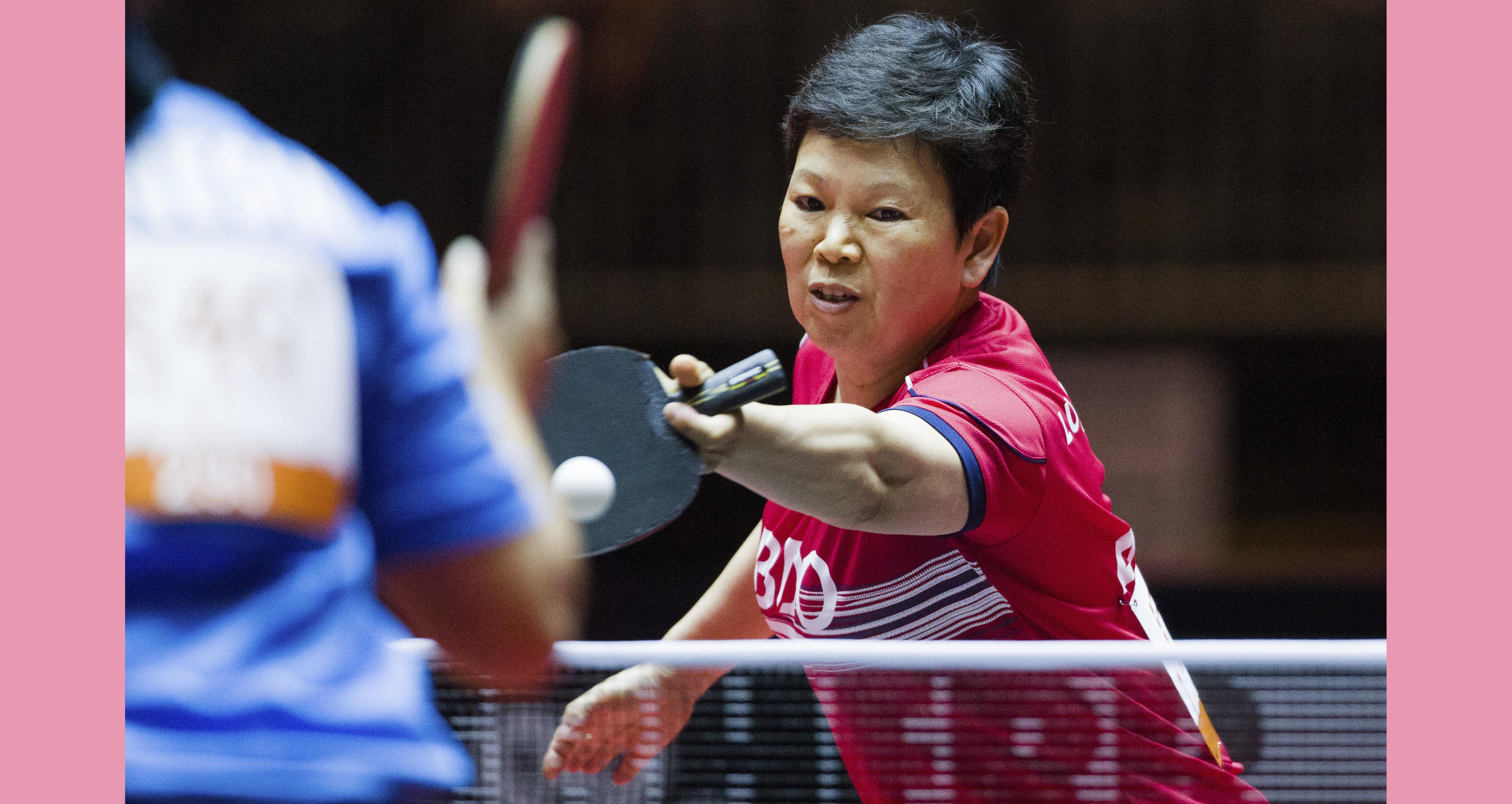 item 7 of Gallery image - ni xia lan playing table tennis in the twenty seventeen world championships