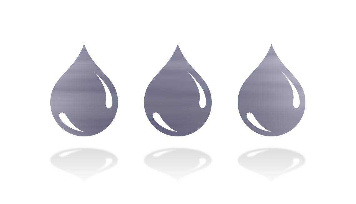 three droplets of blood