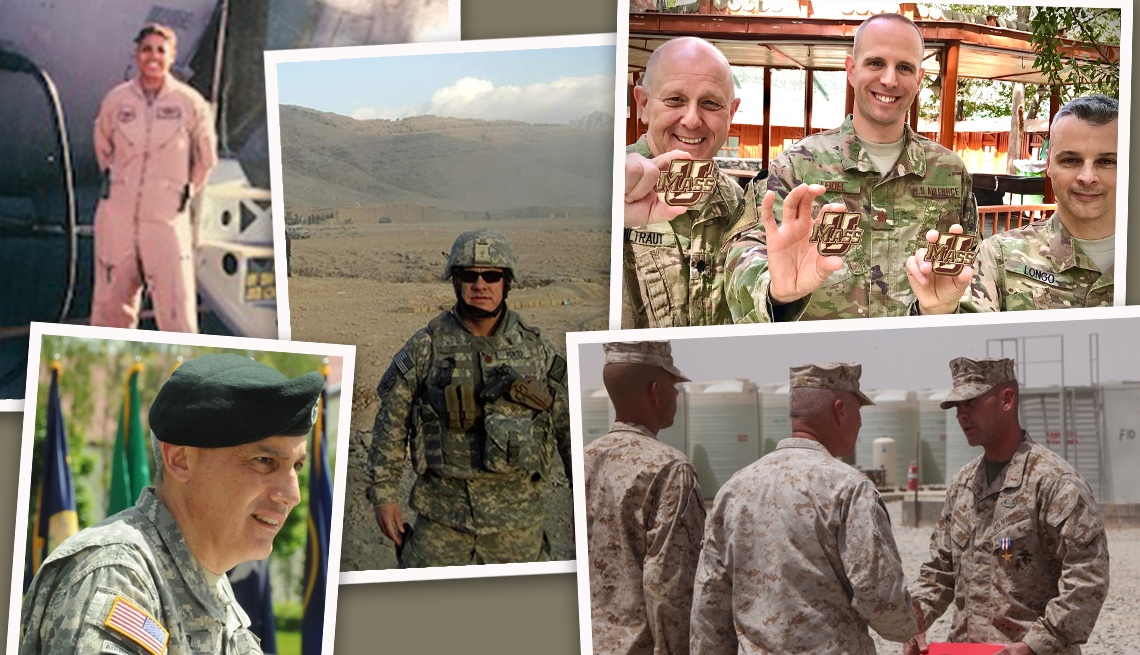 collage of photos from afghan war veterans that a a r p interviewed