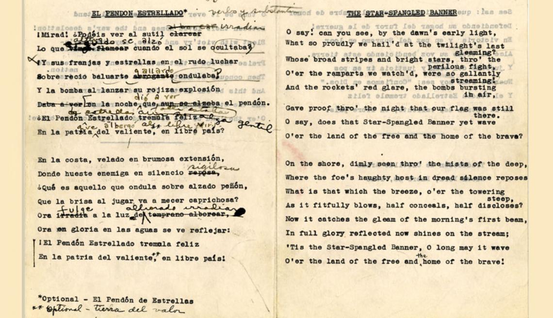 original manuscript by Clotilde Arias
