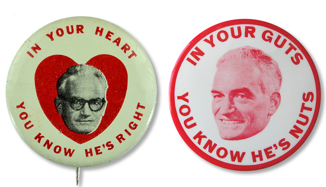 Memorable Presidential Campaign Slogans - Barry Goldwater's slogan was