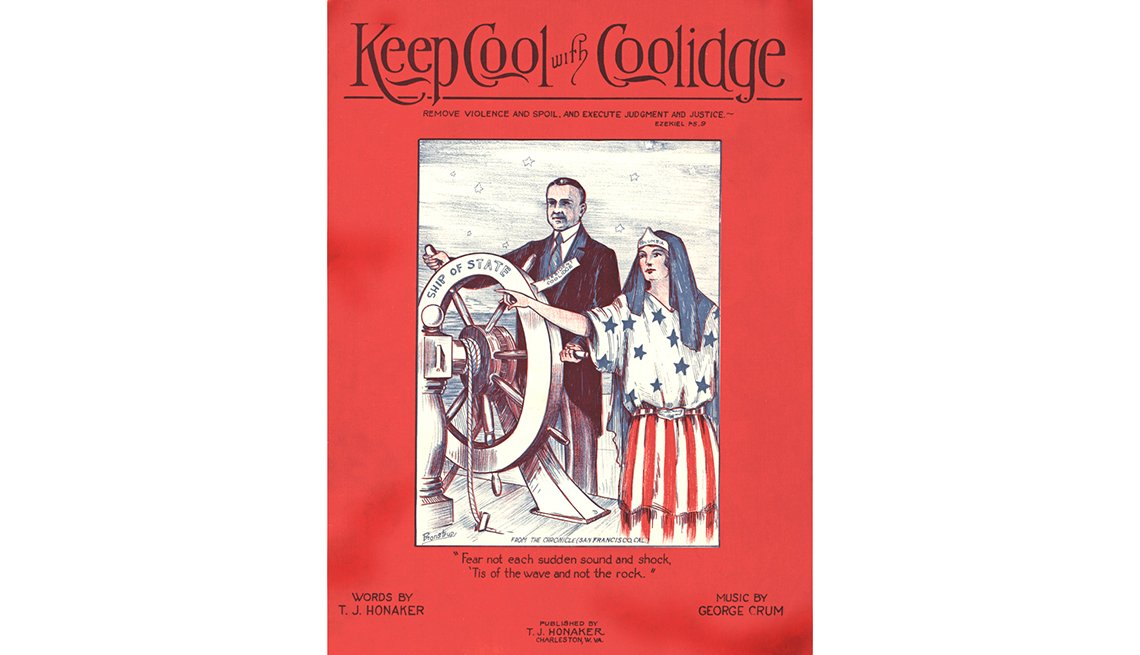 "Memorable Presidential Campaign Slogans - ""Keep Cool With Coolidge"" was Republican candidate Calvin Coolidge's"