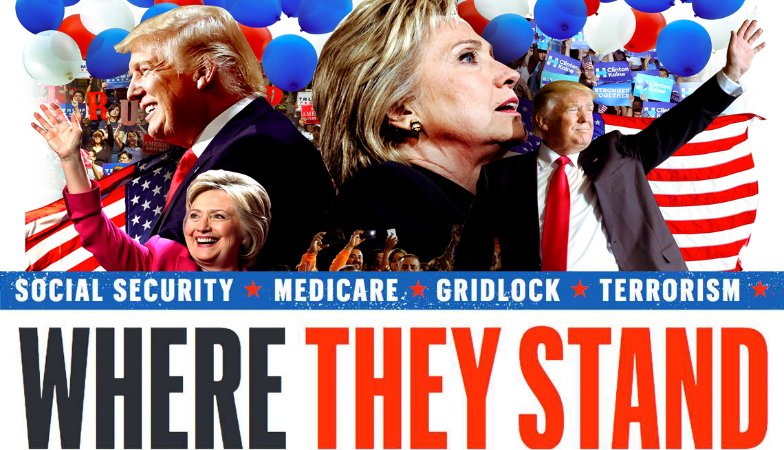 Presidential candidates - where they stand
