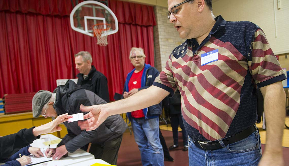 Voters Take To The Polls In Wauwatosa, Wisconsin
