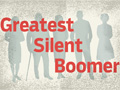 Voters 50+ Greatest Silent Boomer, 2012 Presidential Election