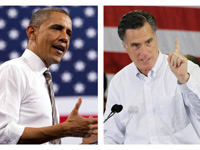 President Obama and Mitt Romney on the campaign trail.