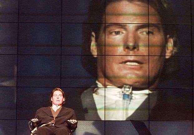 AARP SLIDESHOW - A Who's Who of Celebrity Appearances at DEM Conventions - Christopher Reeve