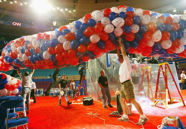 most ballons, historic moments at the Republican Convention