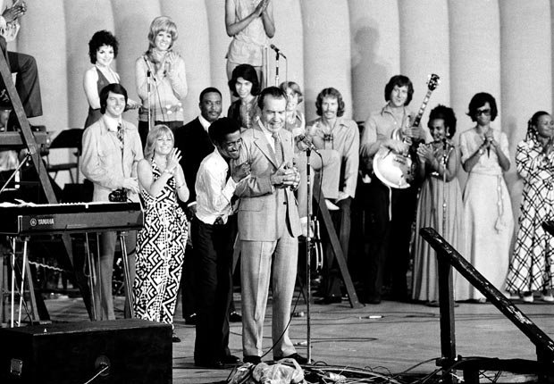 Sammy Davis Jr hugs Nixon, historic moments at the Republican Convention