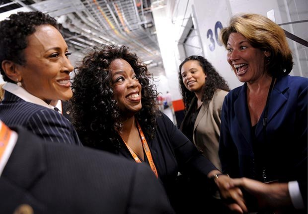 AARP SLIDESHOW - A Who's Who of Celebrity Appearances at DEM Conventions - Oprah Winfrey