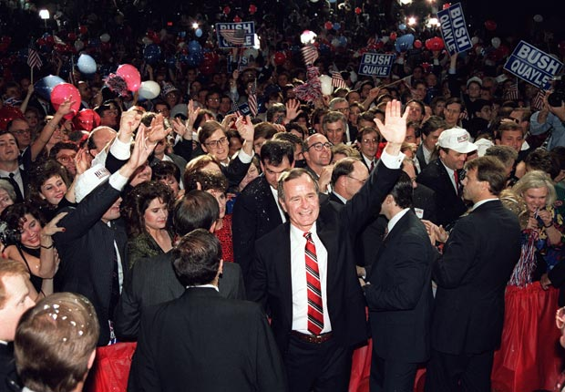 George Bush, historic moments at the Republican Convention