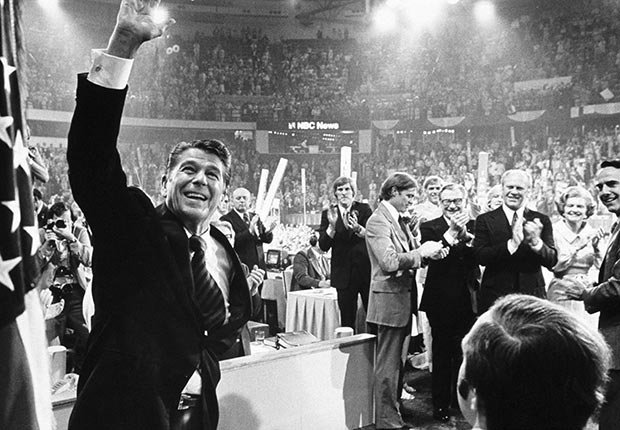 Ronald Reagan, historic moments at the Republican Convention