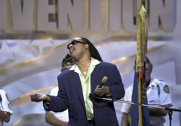 AARP SLIDESHOW - A Who's Who of Celebrity Appearances at DEM Conventions - Stevie Wonder