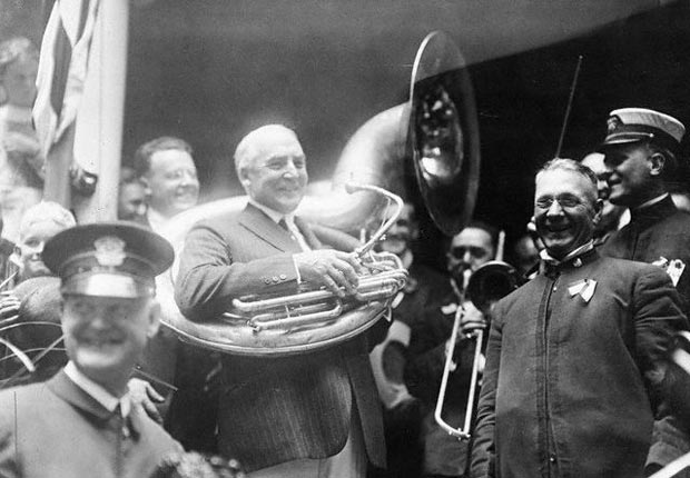 Warren G. Harding, tuba, historic moments at the Republican Convention