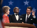 Nancy Reagan, Ray Charles, President  Reagan 1984, celebrities at RNC
