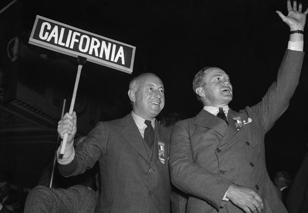 Cecil B. DeMille, S.F.V. Moss 1936, celebrities at RNC