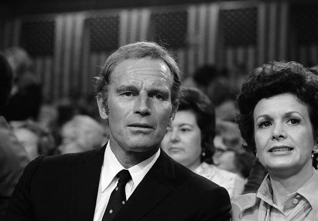 Charlton Heston 1972, celebrities at RNC