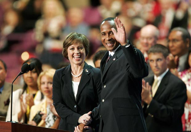 Dorothy Hamill and Lynn Swann 2004, celebrities at RNC