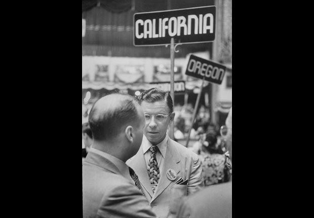 George Murphy 1948, celebrities at RNC