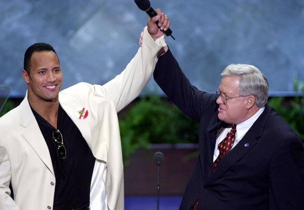 The Rock 2000, celebrities at RNC