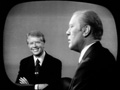 Governor Jimmy Carter and President Gerald Ford debate each other during the 1976 presidential campaign