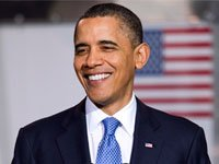 President Barack Obama smiling.