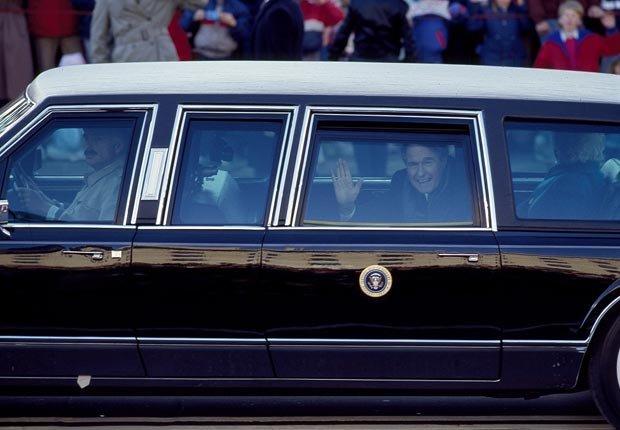 El presidente George H. W. Bush desfile inaugural de 1989 - Discursos de inauguración