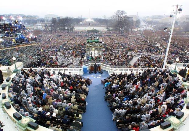 El presidente George W. Bush da su discurso inaugural 2001 - Discursos de inauguración