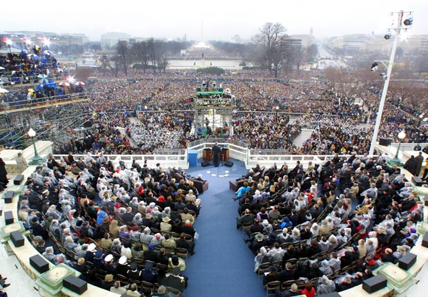 President George W. Bush gives inaugural address 2001, Inauguration Speeches and the 50+