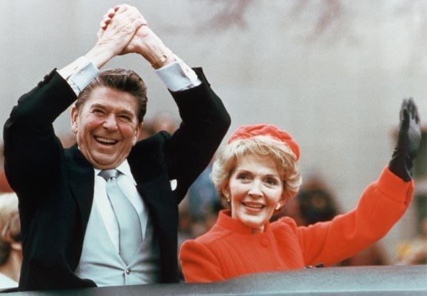 El presidente Ronald Reagan y Nancy Reagan en 1981 - Discursos de inauguración