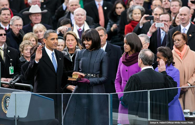 President Obama sworn in for second term of presidency