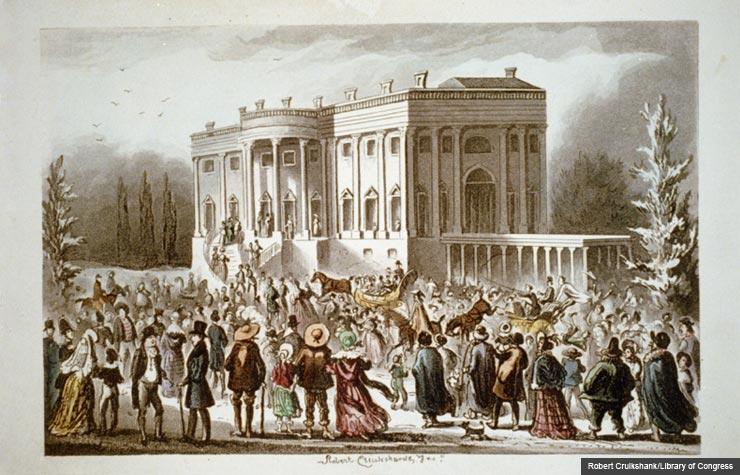 Mob white house inaugural andrew jackson 1829