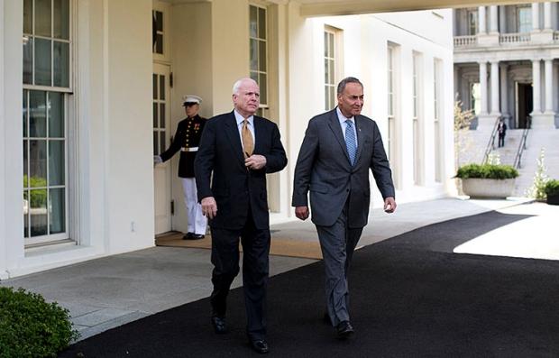 Sens. John McCain Chuck Schumer immigration legislation
