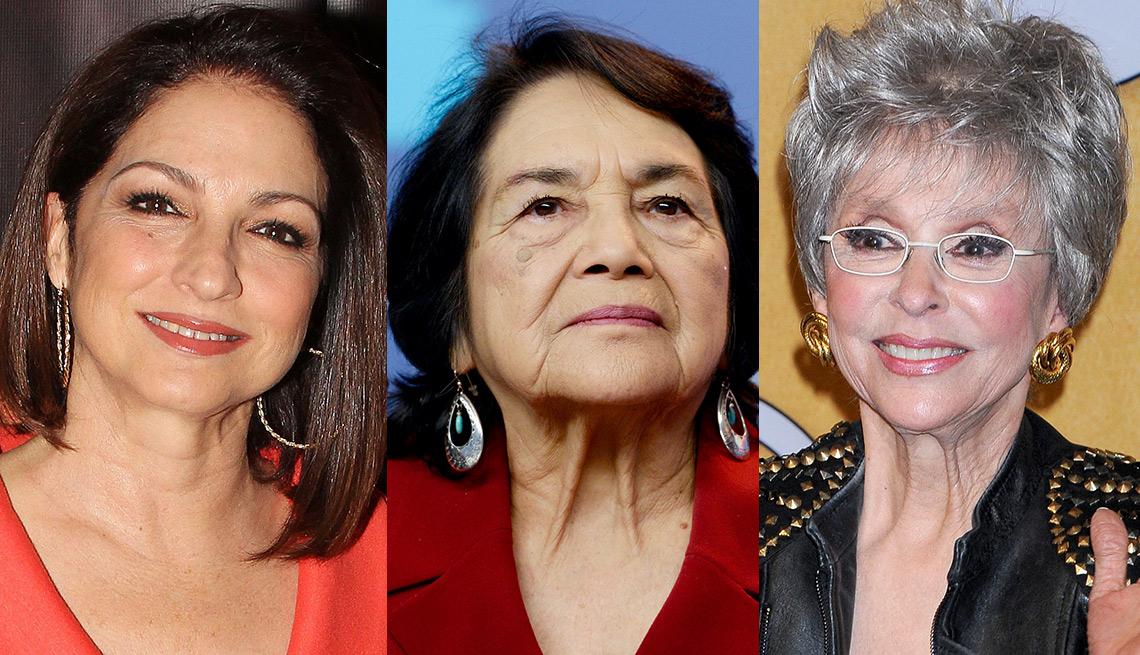 Gloria Estefan, Dolores Huerta y Rita Moreno - Abuelas famosas