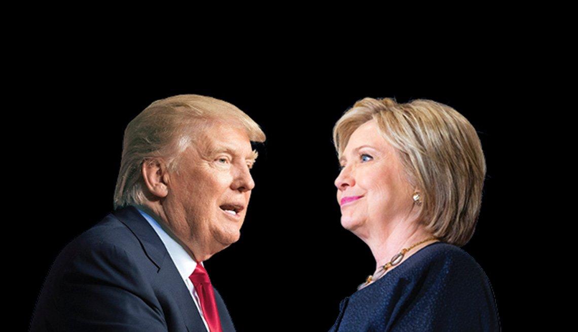 Candidatos a la presidencia Donald Trump y Hillary Clinton