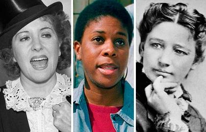 Gracie Allen, Lenora Fulani y Victoria Woodhull - Mujeres que han aspirado a la presidencia