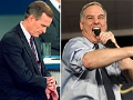 George H.W. Bush y Howard Dean en debates políticos