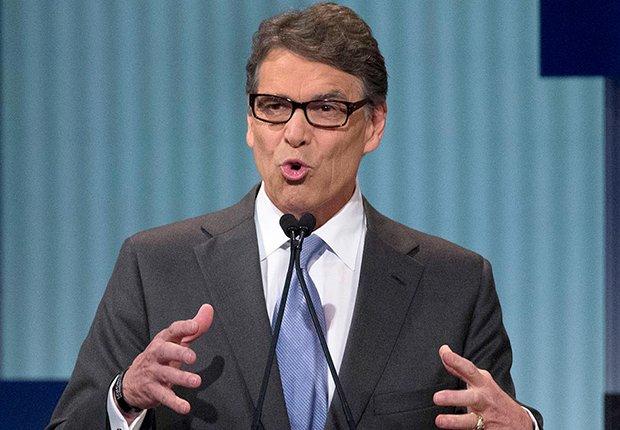 Rick Perry durante un debate político