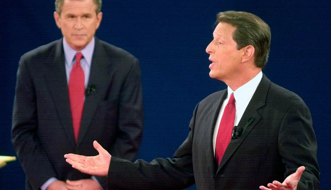 10 Weird things that happened during presidential campaigns - Vice President Al Gore let out long, heavy sighs