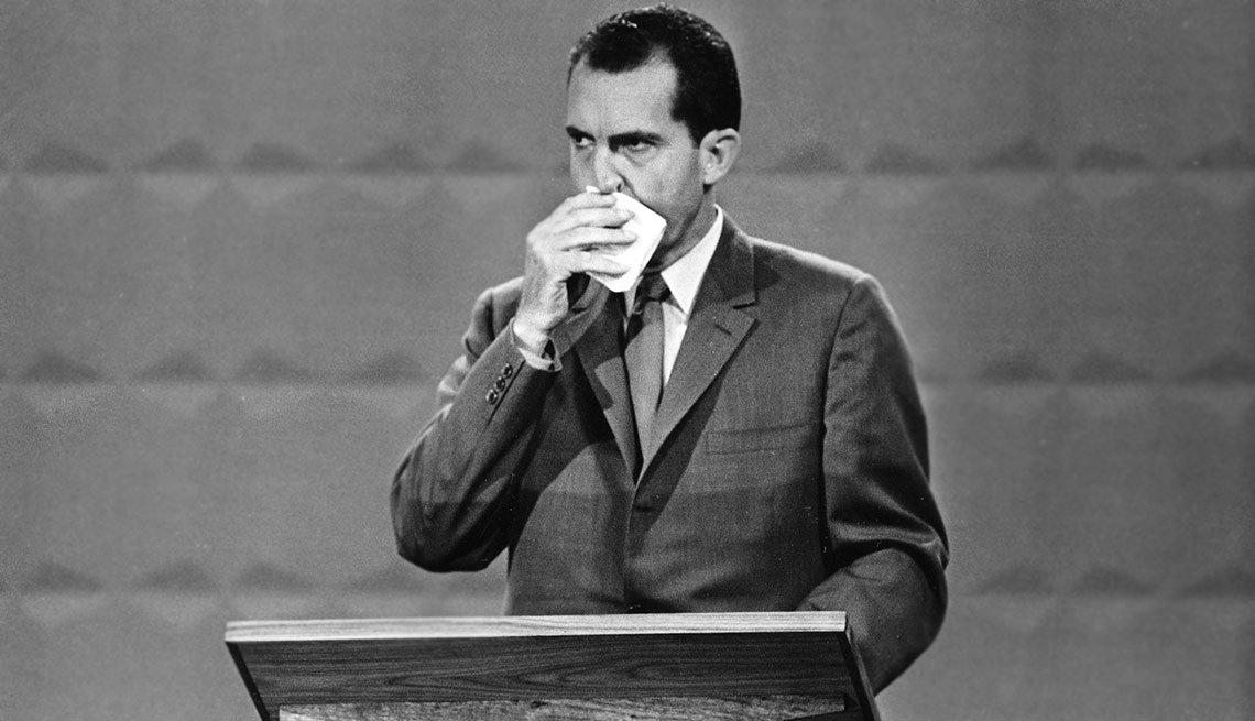 Richard Nixon durante un debate político