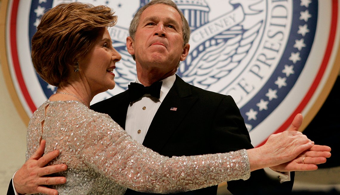 Presidente George Bush y la primera dama Laura Bush