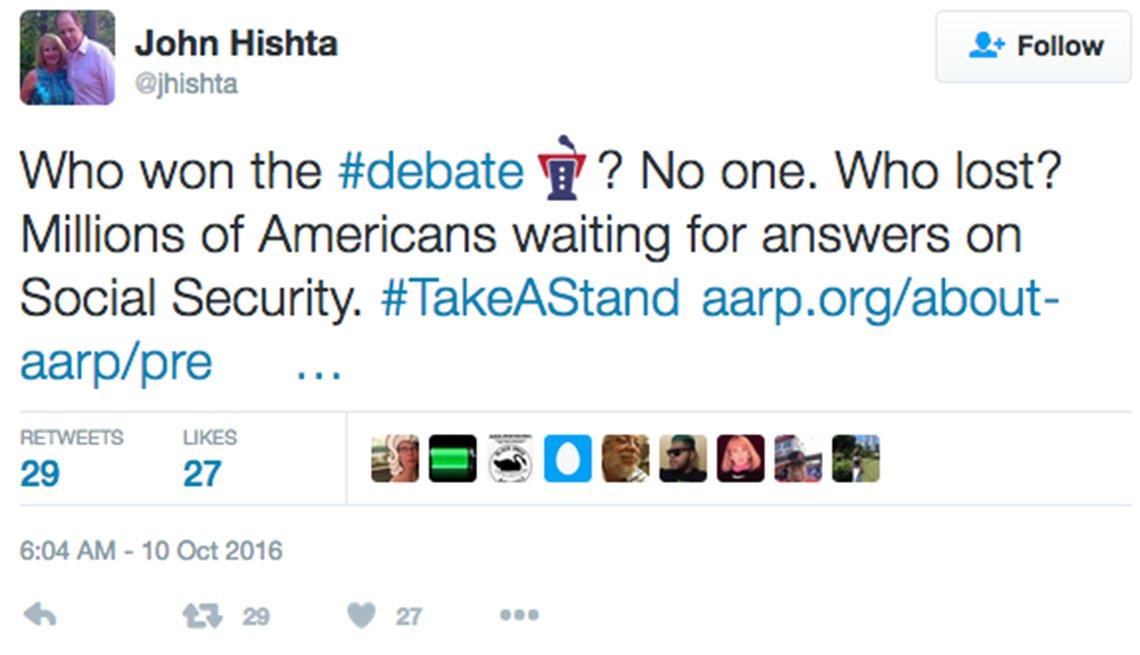 John Hishta's tweets about social security