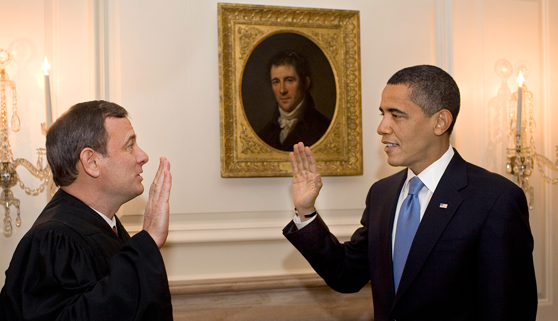 memorable inauguration moments - Chief Justice John Roberts got the words mixed up when administering the oath of office to Barack Obama in 2013