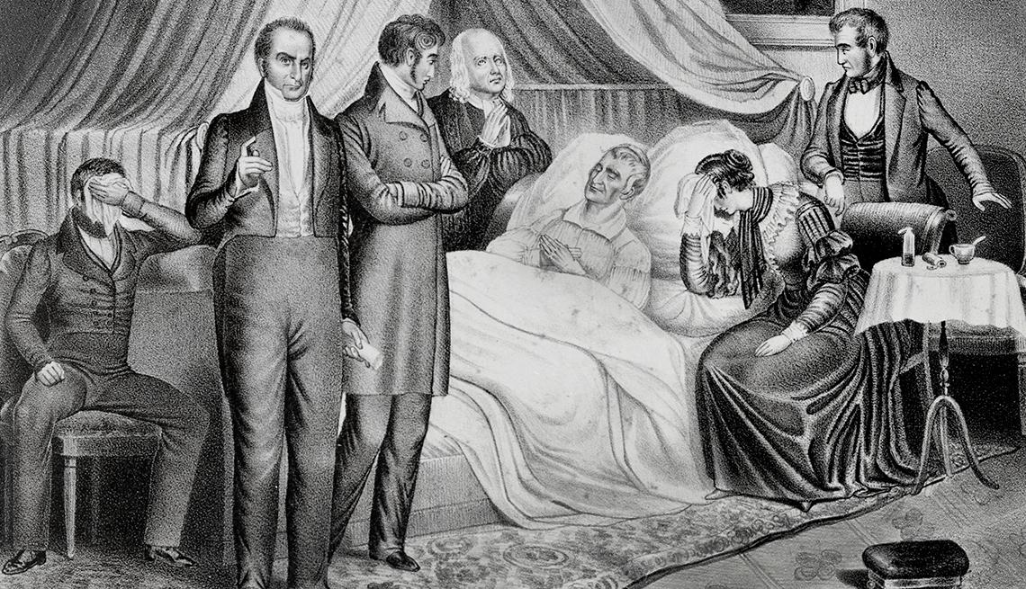 William Henry Harrison murió de neumonía un mes después de juramentar