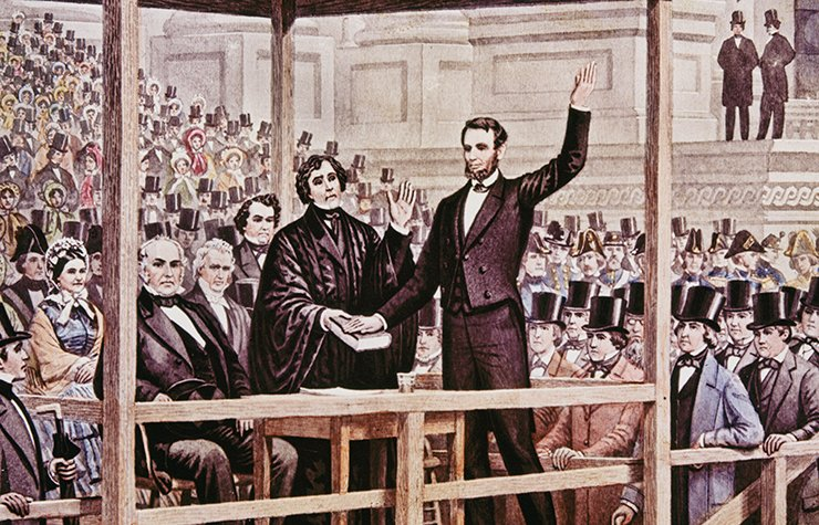 Abraham Lincoln juramentando